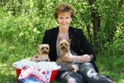 Two loveable Yorkies with Betty
