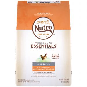 Nutro Wholesome Essentials Senior Farm Raised Chicken, Brown Rice & Sweet Potato Recipe Dry Dog Food