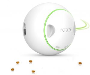 PETGEEK Interactive Dog Treat Ball Treat Dispensing Dog Toys