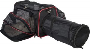 Expandable Pet Carrier with Tunnel by Pet Peppy
