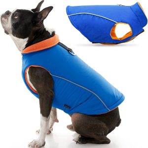 Fleece Lined Dog Jacket Coat with D Ring Leash