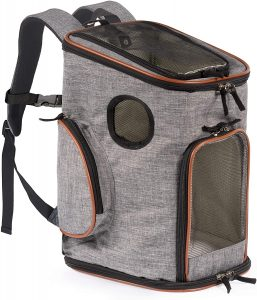 Pawfect Pets Pet Carrier Backpack for Cats and Extra Small Dogs
