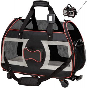 WPS Airline Approved Pet Carrier with Wheels