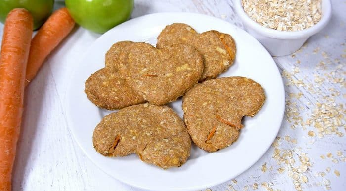 Apple Carrot Dog Biscuits